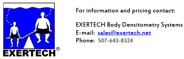 EXERTECH Body Densitometry Systems